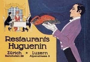 30 x 20 Stretched Canvas Poster Restaurants Huguenin