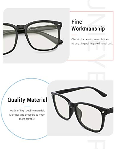 940a7defb1d2 Slocyclub Blue Light Blocking Glasses Vintage Nerd Square Keyhole Design  Eyeglasses Frame for Women Men