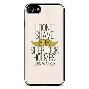 iPhone 7 Transparent Edge Case Sherlock I Dont Shave For Sherlock