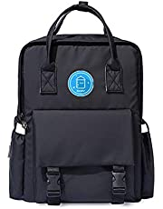 Fashion Multifunctional Diaper Bag Backpack,Light Baby Moms Travel Bag Large Capacity Maternity Baby Diaper Changing Bag with Stroller Straps and Waterproof Baby Bag Backpack (Black)