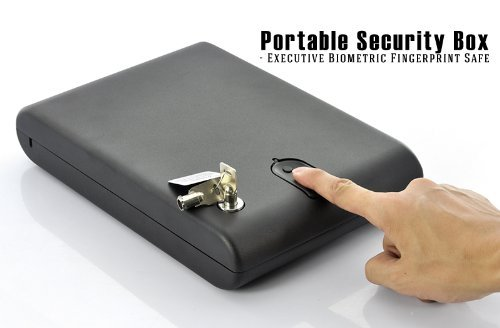 Portable Security Box - Executive Biometric Fingerprint Safe ( Store up to 200 fingerprints ) Security Tracer system New by China Supply