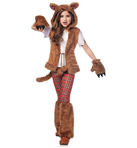 Costume Culture Women's Howl-O-Ween Girl's Costume, Brown, Large ()