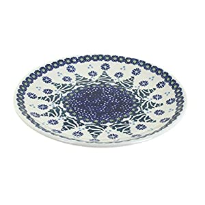 Blue Rose Polish Pottery Festive Fir Dessert Plate