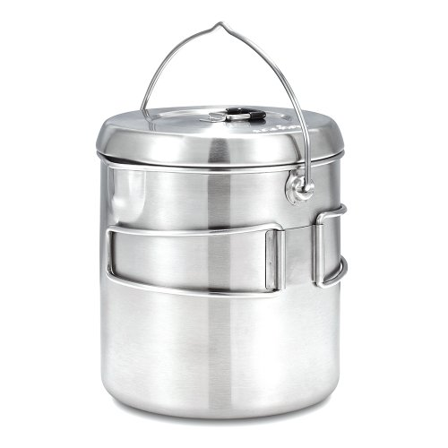 Solo Stove Pot 1800: Stainless Steel Companion Pot for Solo Stove Titan. Great for Backpacking, Camping, Survival (Solo Stove Backpacking Stove compare prices)