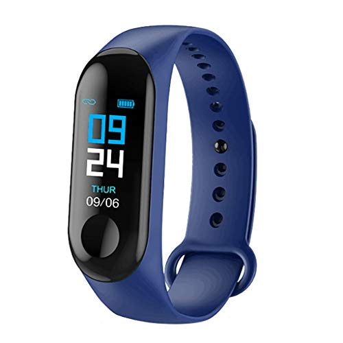 FEDULK Smart Watch Sports Fitness Activity Heart Rate Tracker Blood Pressure Smart Wristband Wristwatch(Dark Blue) (Best Smartwatch For The Money)