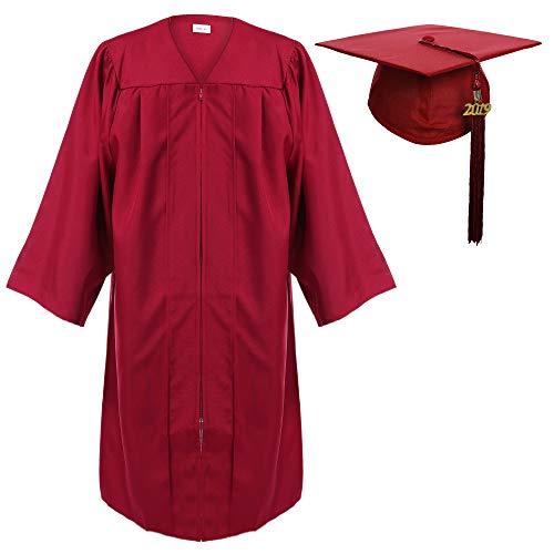 Newrara Graduation Gown Cap Tassel Set (Large 51(5'6