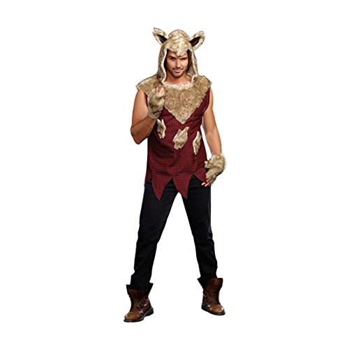 Wolf Sexy Costumes (Dreamgirl Men's Big Bad Wolf Costume, Multi-Colored, Medium)