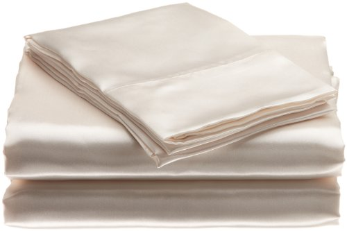 Scent-Sation Charmeuse Satin 4-Piece Sheet Set, Full, Bone