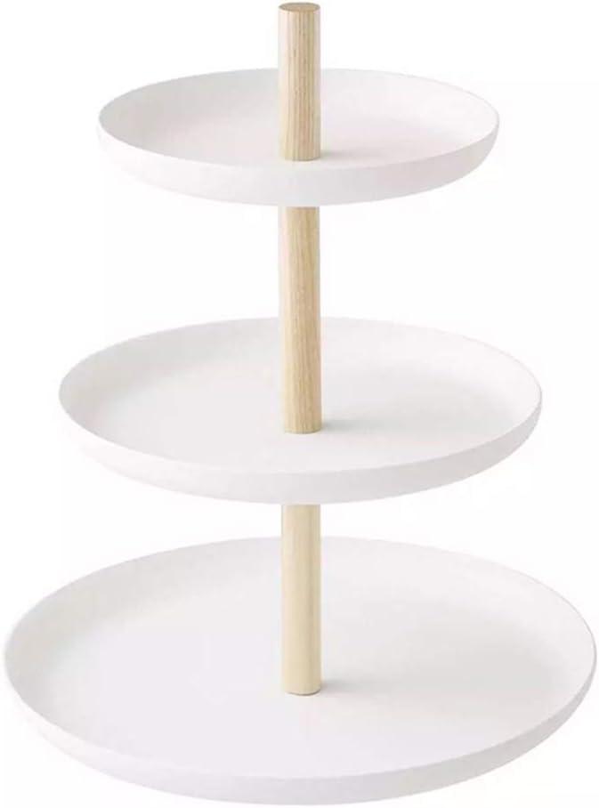 TOPBATHY - Soporte para Tartas de 3 Pisos, Bandeja para Frutas, Elegante Soporte para Cupcakes de Boda