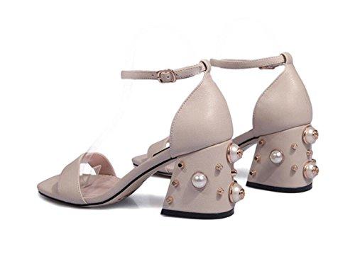 Toe Correa Libre Sandalias Peep Ladies de Sandalias High color Heels ZXMXY al Vintage Zapatos Block Zapatos Mujer Nude Aire Strappy Fiesta Summer Tobillo Bohemia Sandalias npBnUq7wxZ