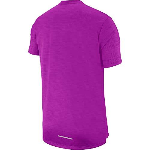 Nike Miler Breathe Men's Reflective Running Short Sleeve Top T Shirt Size 2