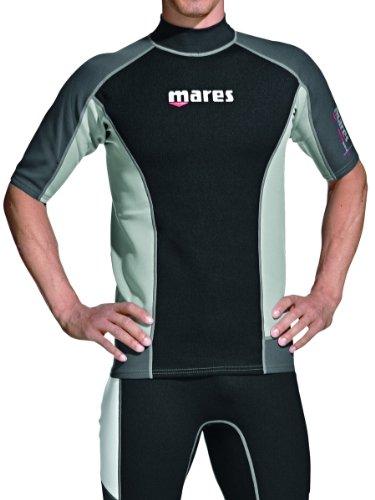 Mares Shorts Sleeve Trilastic Rash Guard, Black Grey, XX-Large (Mares Guard Rash)