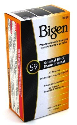 Bigen Powder Hair Color #59 Oriental Black 0.21oz (3 Pack) by Bigen
