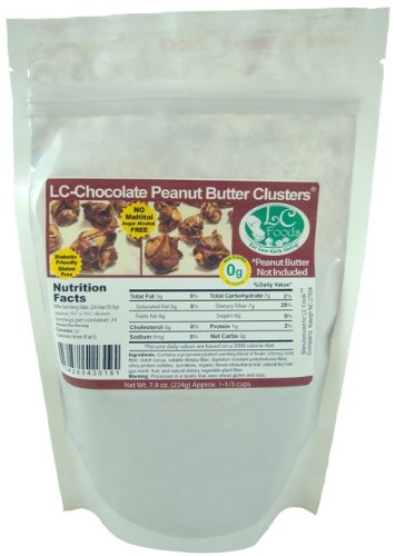 Low Carb Chocolate Peanut Butter Clusters - LC Foods - All Natural - Paleo - Gluten Free - No Sugar - Diabetic Friendly - 5.53 oz