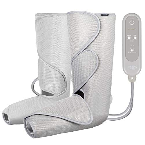 FIT KING Air Compression Leg Massager for Foot and Calf Circulation Massage with Handheld Controller 2 Modes 3 Intensities (with 2 Extensions)