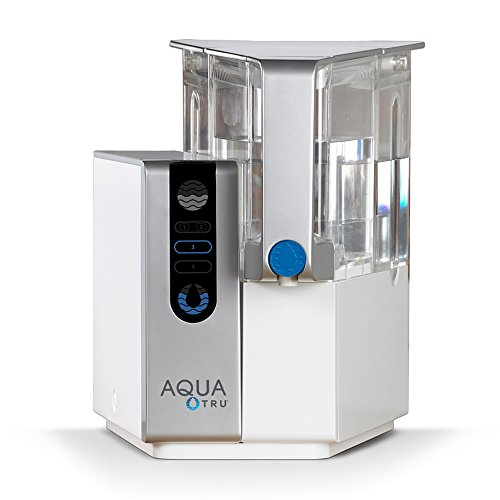 AQUA TRU Countertop Water Filtration Purification System with Exclusive 4 - Stage Ultra Reverse Osmosis Technology (No Plumbing or Installation Required) | BPA Free