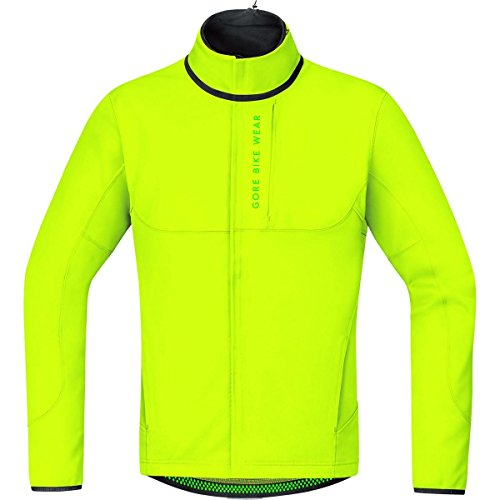GORE BIKE WEAR Herren Thermo Mountainbike-Jacke, GORE WINDSTOPPER Soft Shell, POWER TRAIL WS SO, Größe: XL, Neon Gelb, JWPOWT