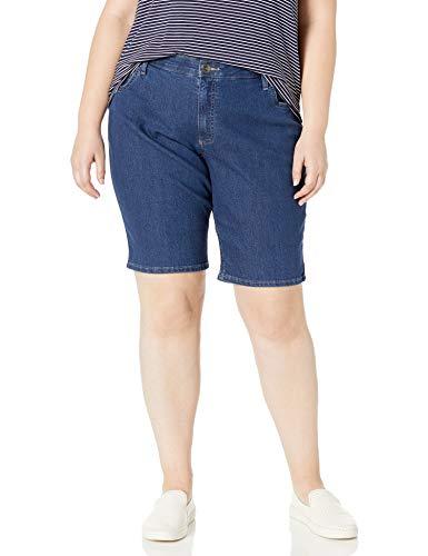 Riders by Lee Indigo Women's Plus Size Comfort Waist Bermuda Short, Blue Suede, 20 W (Plus Size Blue Shorts)