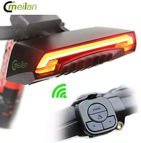 WALIO Meilan X5 - Luz Trasera LED Rojo con Intermitentes y Mando ...