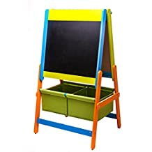 3 in 1 Art Easel w/ Paper Roll, Storage Bins, and Magnetic Letters & Numbers