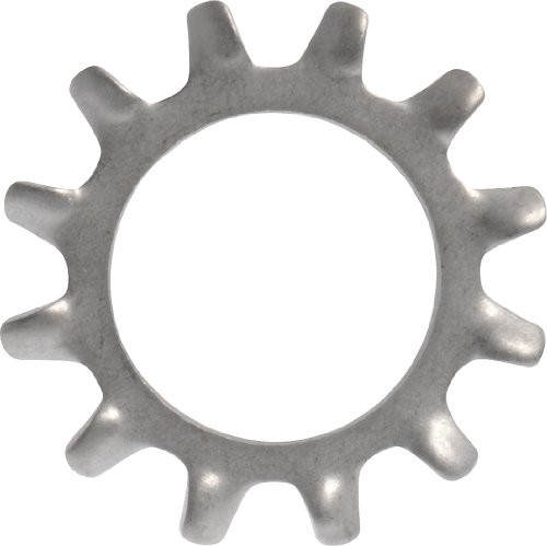 The Hillman Group 43798 Number 4 External Tooth Lock Washer, Stainless Steel, 70-Pack