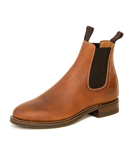 Ranch Road Boots Men's All Weather Chelsea Boot with Goodyear Welt (9.5) Camel ()
