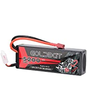 GOLDBAT 5200mAh 7.4V 50C 2S Lipo Battery Hard Case with Deans Connector for RC Car RC Airplane Helicopter RC Boat Truck