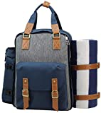 Picnic Backpack for 4 | Picnic Basket | Stylish All-in-One Portable Picnic Bag