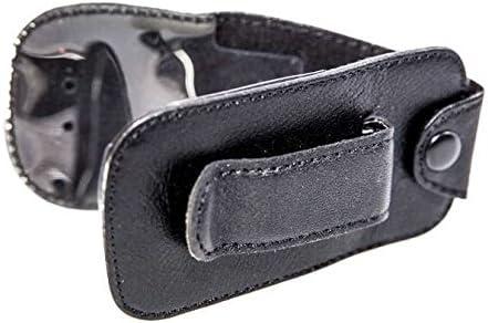 caseroxx Bolsa de Cuero con Clip para el cinturón para Samsung GT E1270, Funda Carcasa de Cuero Real en Negro
