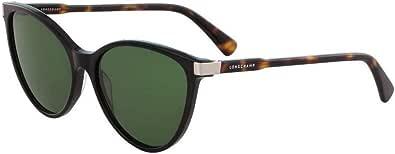 Longchamp LO624SL Black/Havana/Solid Green One Size