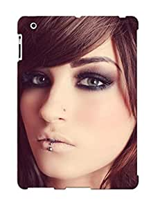 Fashion Tpu Case For Ipad 2/3/4- Girl With Piercings Defender Case Cover For Lovers