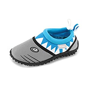 Fresko Toddler Shark Water Aqua Shoes, T1028, Turquoise, 7 M US Toddler