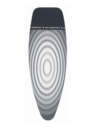 Brabantia Titan Grey Oval D Ironing Board Cover with Heat Resistant Parking Zone - 53