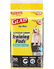 Glad for Pets Black Charcoal Puppy Pads   Puppy Potty Training Pads That ABSORB & NEUTRALIZE Urine Instantly   New & Improved Quality, 30 count