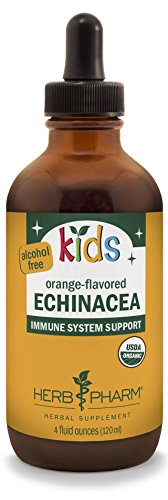 Herb Pharm Kids Certified-Organic Alcohol-Free Echinacea Glycerite Liquid Extract, 4 Ounce