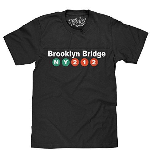 Tee Luv Brooklyn Bridge T-Shirt - Brooklyn NY 212 Tee Shirt (XX-Large) - Tee Brooklyn Shirts