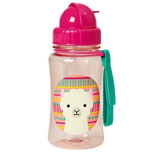 Skip Hop Zoo Toddler Sippy Cup Transition Bottle: Dishwasher-Safe Water Bottle with Flip Top Lid, Llama