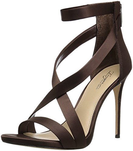 - Imagine Vince Camuto Women's Devin Heeled Sandal, Dark Chocolate, 9.5 Medium US