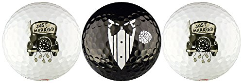 Just Married Wedding Variety Golf Ball Gift Set by EnjoyLife Inc
