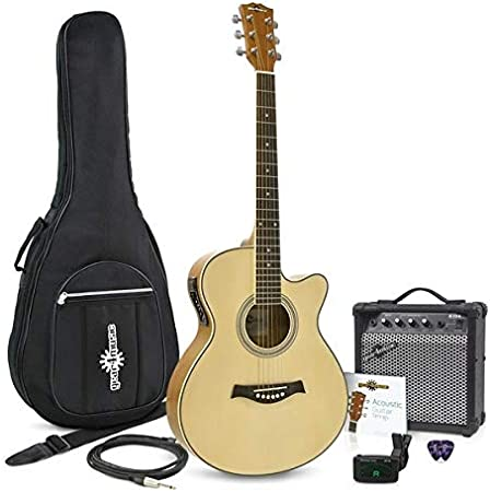 Guitarra Electroacustica Single Cutaway + Ampli de 15W Gear4music