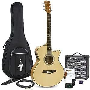 Guitarra Electroacustica Single Cutaway + Ampli de 15W Gear4music ...