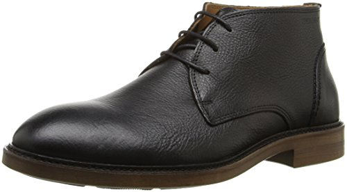 Sebago Men's Bryant Chukka Ankle Bootie, Black Pebbled Leather, 7.5 M US