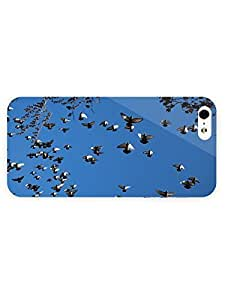 3d Full Wrap Case for iPhone 5/5s Animal Flying Pigeons wangjiang maoyi