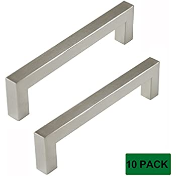 Probrico Kitchen Cupboard Handles And Pulls 5in Holes Centers Stainless Steel Cabinet Drawer Handles Brushed Nickel 5.5 in Total Length 10 Pack