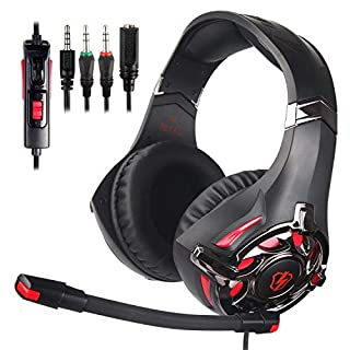 PS4 Gaming Headset, L3 Stereo Over Ear Gaming Headphone with Mic Noise Cancelling Volume Control for Xbox One/PC/Mac/Nintendo
