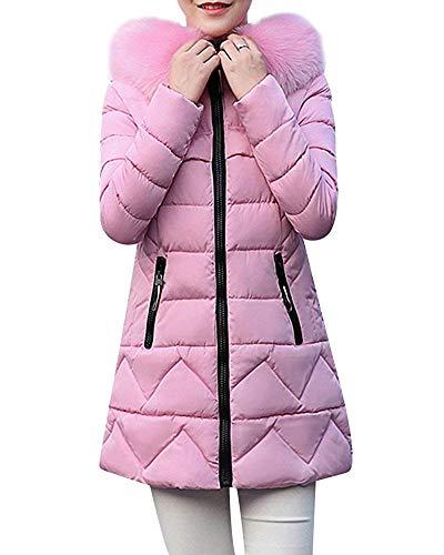 Da Capispalla Giacca Zhrui Outercoat Coat Cappuccio Con colore Rosa Warm Rosa Donna X large Winter Dimensione Parka AHTqtTY