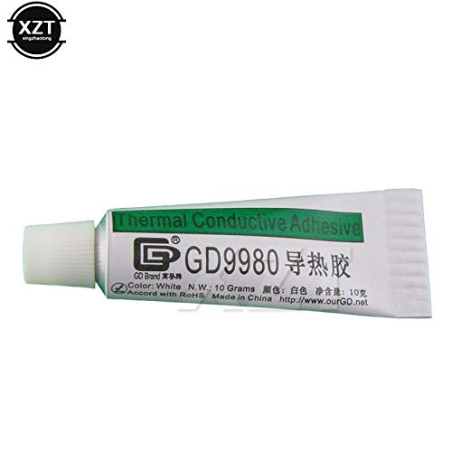 - 1pcs Thermal Plastic GD9980 Thermally Conductive Adhesive Cement Glue Heat Sink Grease Plaster with Adhesive Net 10g White