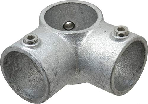 Kee - 2 Inch Pipe, 90° Two Socket Tee, Malleable Iron Pipe Rail Fitting