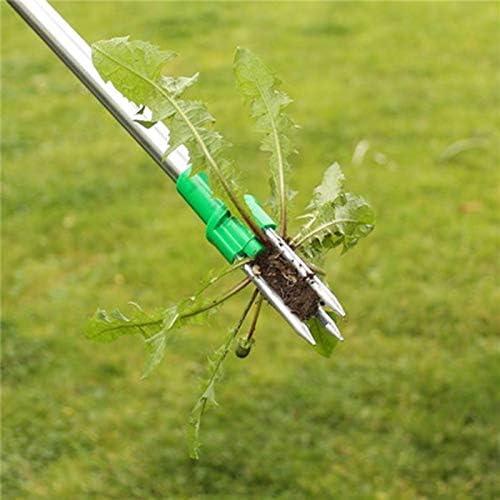 Stand Up Sarchiatura Tool 39 in Alluminio Maniglia in Lega Weeder Lunga Rinforzata con 3 Artigli-Manuale for Garden Pation Prato
