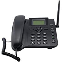 Sourcingbay M281 GSM Wireless Telephone for Home/Office, Support 2G GSM Mobile Network, with SMS, Call Logs, Alarm, Phonebook, Redial Function